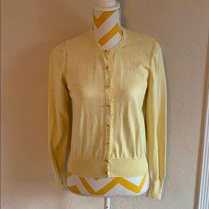CAbi soft yellow sweater.
